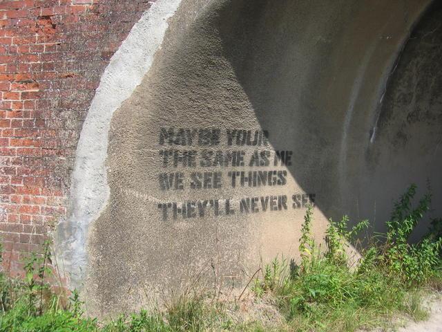 Graffiti at Hopswood Aqueduct
