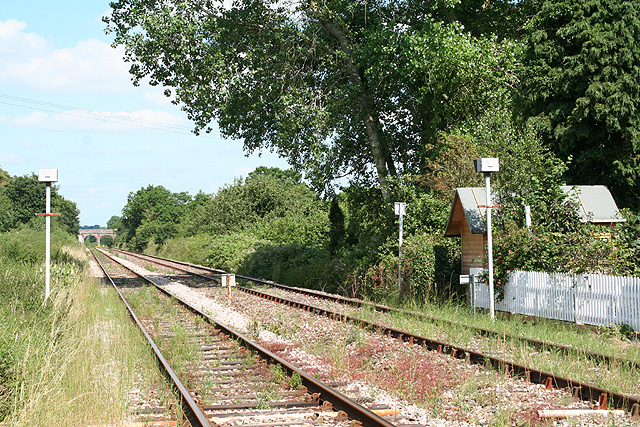 Crediton: Railway at Salmon Pool Crossing