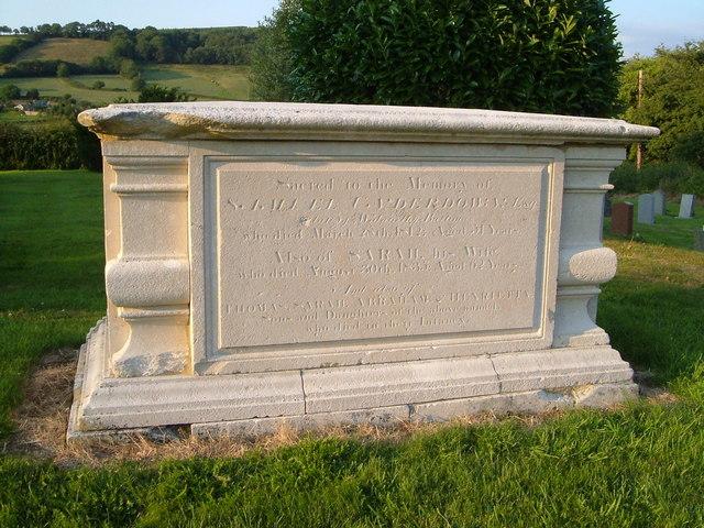 Tomb, Northleigh churchyard