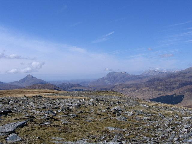 Flat Summit of Meall an Fheur Loch