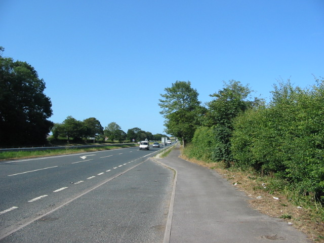The A64 dual carriageway 1Km south west of Barton Hill