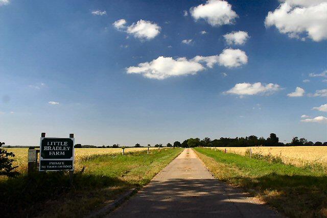 Track to Little Bradley Farm