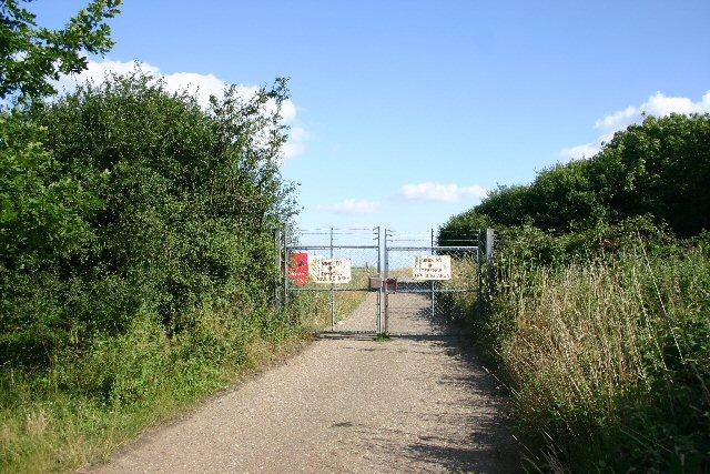 Entrance to MOD training area