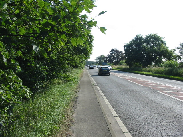 The A64 near Flaxton heading to York