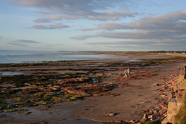 The Rocky shore of Nairn.