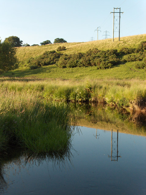 Machany Water and adjacent pasture