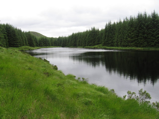 Loch Fannie with Craigfionn visible above the trees