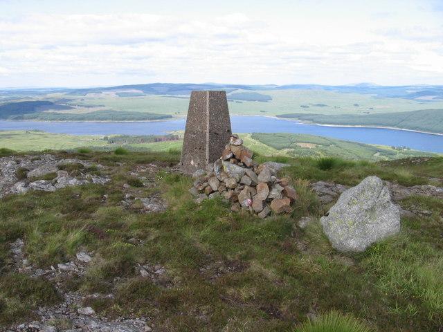 Craiglee trig point above Loch Doon