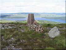 NX4796 : Craiglee trig point above Loch Doon by Chris Wimbush