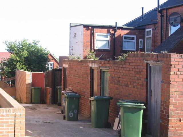 Rothbury Terrace Back Lane