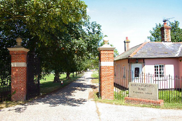 Entrance to Barnardiston Hall Preparatory School