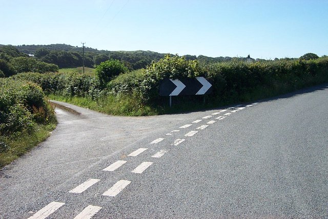 Road Junction near Rhyd-Ifan farm