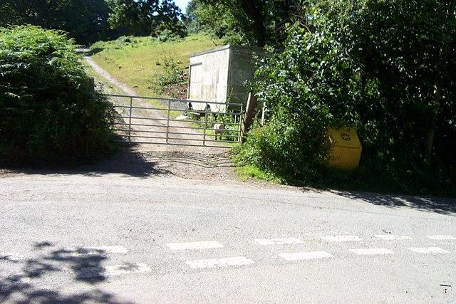 Road junction near Goetre farm