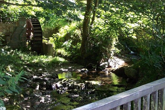 Waterwheel and falls