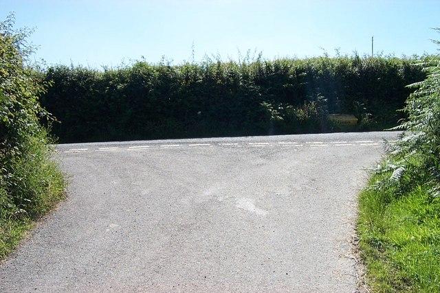 Road junction near Grugfryn