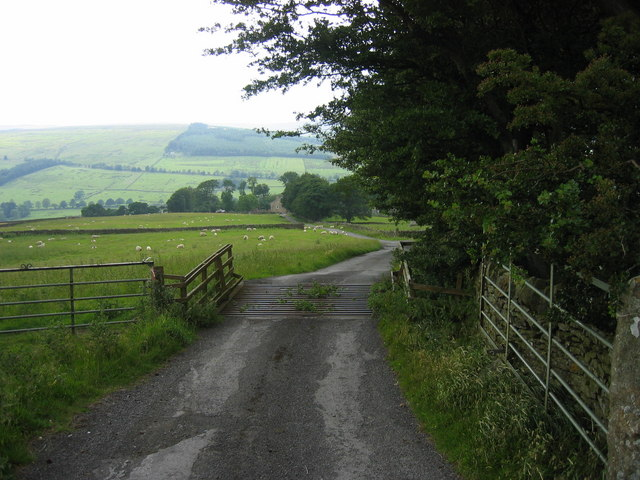 Track leading to Keenlyside Hill Farm