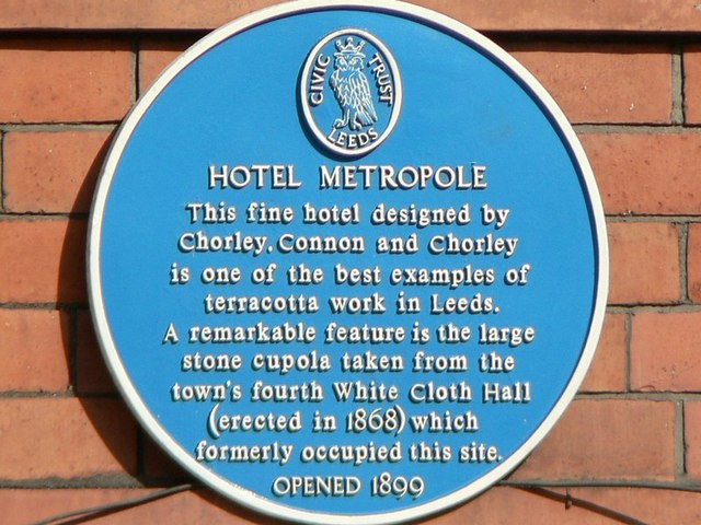 Blue Plaque, The Metropole, King Street, Leeds