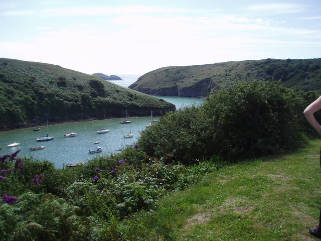 View out of Solva harbour