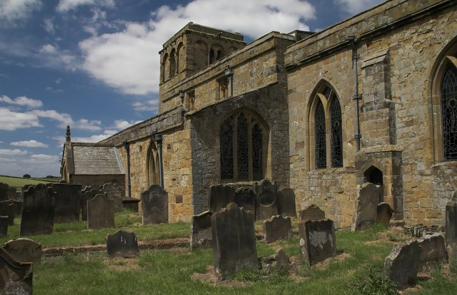 Church of St Mary the Virgin Leake - from the South East