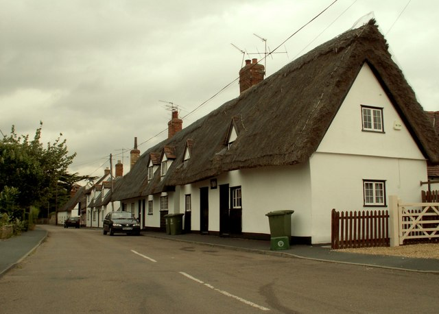 Thatched Cottages at Pampisford, Cambridgeshire