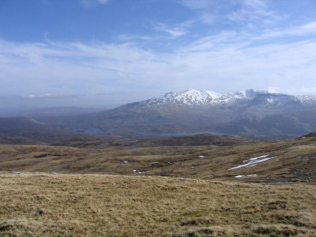 Open moorland descending from Beinn Leoid