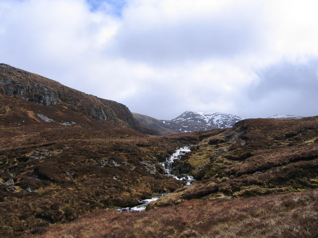 Heather and Peat Moorland south of Gleann Dubh