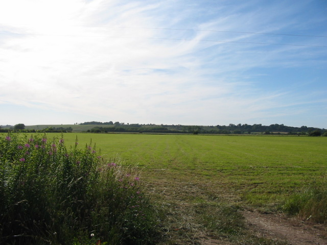 View west over farmland to Riseborough