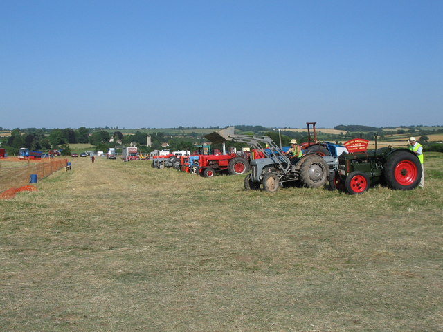 Tractor display at the Somerset Steam Spectacular