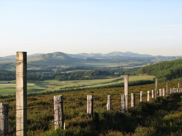 The Pentlands from Broomy Law