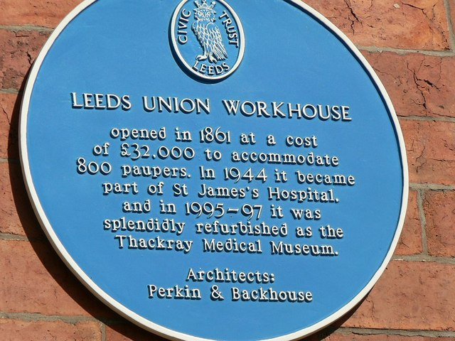 Blue Plaque, Leeds Union Workhouse, Beckett St