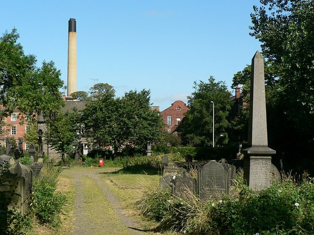 Drive in Beckett St Cemetery, Leeds