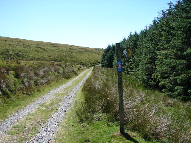 Footpath from Friog at junction with National Cycle Route No. 8