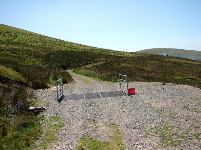 Cattle grid at Rhydcriw
