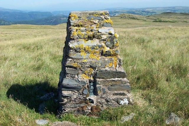 Rhiw Lwyd Ordnance Survey triangulation pillar