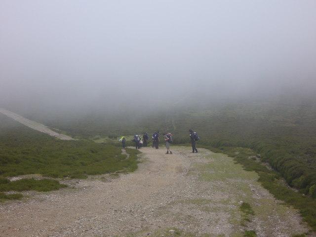 Track up western slope of Moel Morfydd
