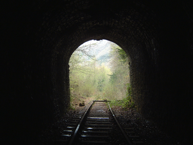 Disused Railway Tunnel Entrance at Dennel Hill