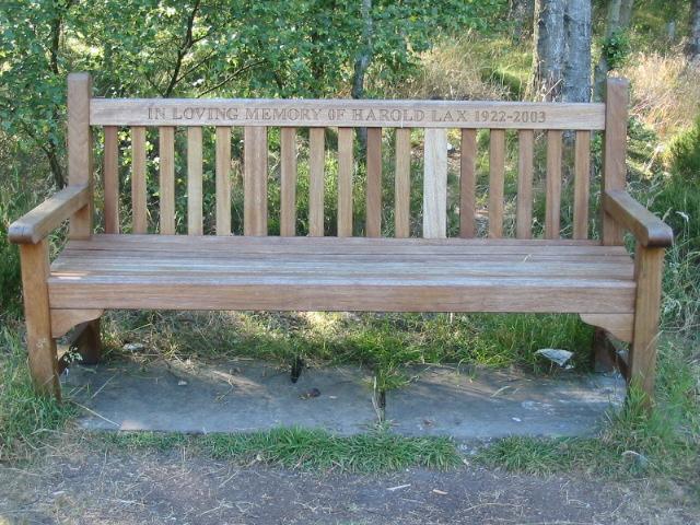 Bench near Cawthorne Camps car park