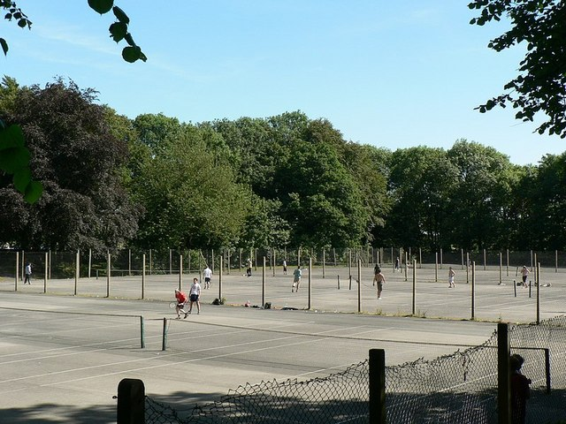 Tennis courts, Old Park Road, Roundhay, Leeds