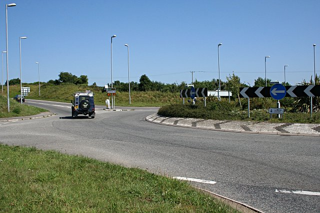 Roundabout on the Wadebridge Bypass