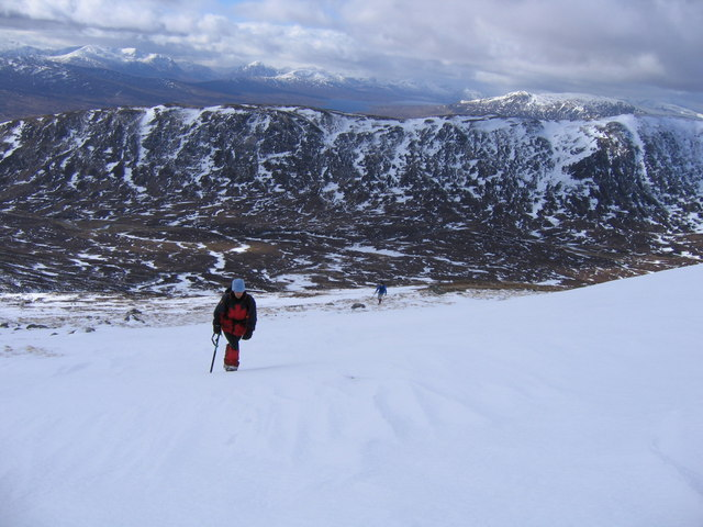 Climbing Meall na Meoig