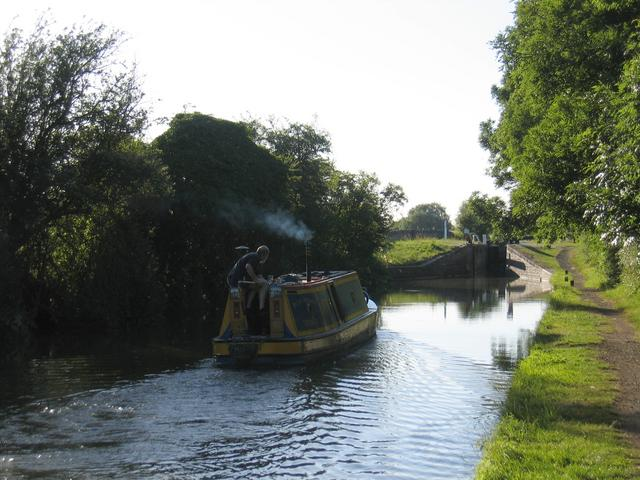 Approaching Varney's lock in the evening