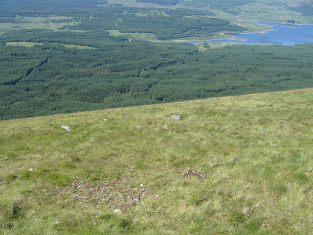 The slopes of Meaul looking towards the head of Loch Doon