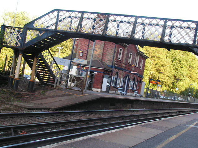Bridge over the line at Wadhurst station