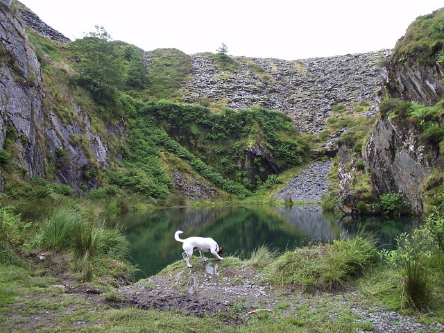 Secret pool in Rosebush quarry