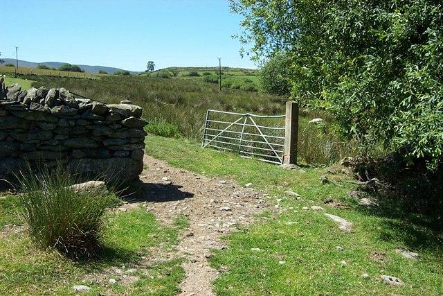 Gate near Parc farm