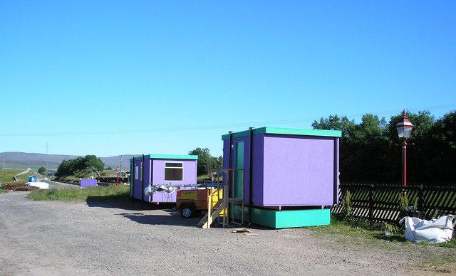 Workmen's huts