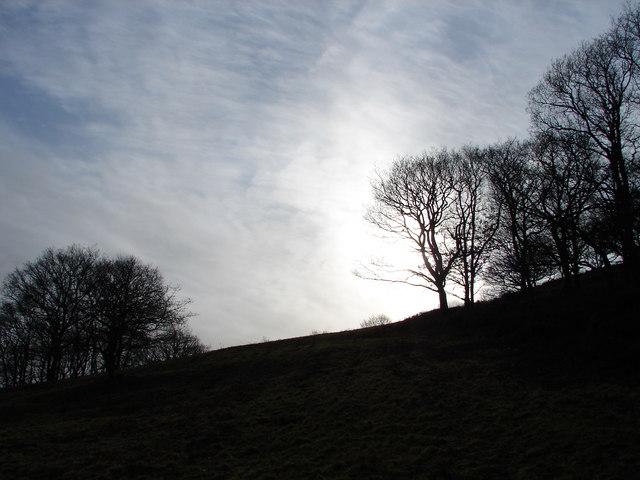 The Sun sets over Cwm Rheidol