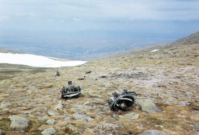 Aircraft remains, Beinn a' Bhuird