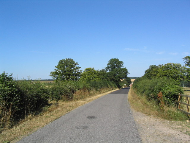 Road running east to Careby