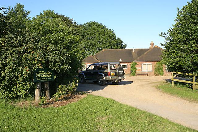 Entrance to Summerlands Caravan Park, nr Coombe Bissett
